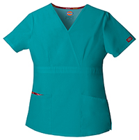 Dickies Mock Wrap Top Teal Blue (86806-TLWZ)