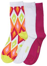 Cherokee 1-3pr pack of Crew Socks Assorted (ARTECO-AST)