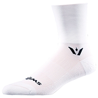 Swiftwick 1 Pair Pack Crew Sock White (ASPIREFOUR-02Z)