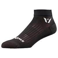 Swiftwick 1 Pair Pack Ankle Sock Black (ASPIREONE-01Z)
