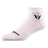 Swiftwick 1 Pair Pack Ankle Sock White (ASPIREONE-02Z)