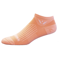 Swiftwick 1 Pair Pack No Show Sock Peach (ASPIREZERO-31Z)