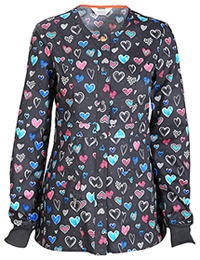 Code Happy Snap Front Warm-up Jacket True to Your Heart (CH300X14A-TRHE)