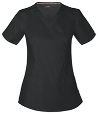 Code Happy Mock Wrap Top Black (CH601A-BCKH)