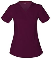 Code Happy Mock Wrap Top Wine (CH601A-WIN)