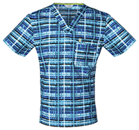 Men's V-Neck Tropical Plaid (CH605X5A-TRPL)