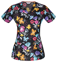 Code Happy V-Neck Top Paint A Posy (CH606X8A-PAAP)