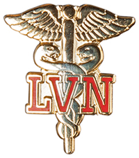 Cherokee Emblem Pin LVN on Caduceus (CMEP-804)