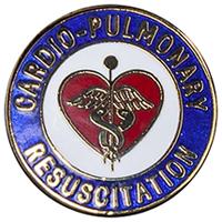 Cherokee Emblem Pin Cardio Pulmonary Resuscitation (CMEP-991)