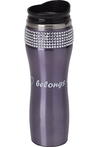 Cherokee Coffee Tumbler with Bling Purple (CMGCT-PUR)