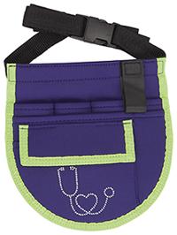 Cherokee Nurseatility Apron Organizer Belt Purple w/ Lime Trim (CMGNA-PURLM)