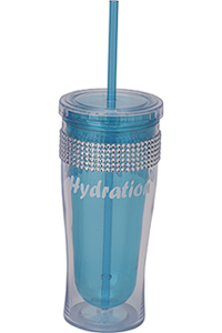 Cherokee Water Bottle with Bling Light Blue (CMGWB-LB)