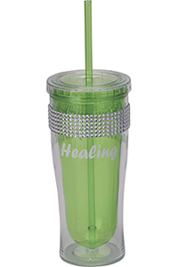 Cherokee Water Bottle with Bling Lime (CMGWB-LM)