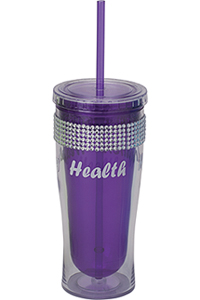 Cherokee Water Bottle with Bling Purple (CMGWB-PUR)