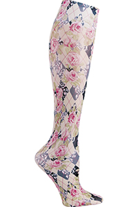 Celeste Stein Knee High 8-15 mmHg Compression Harlequin Roses (CMPS-2082)