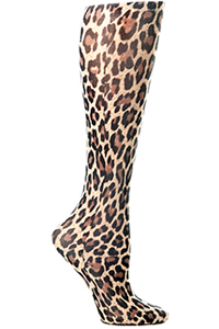 Celeste Stein Knee High 8-15 mmHg Compression Hairy Leopard (CMPS-593)