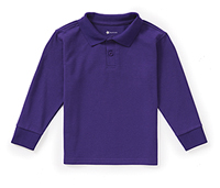 Classroom Uniforms Preschool Long Sleeve Pique Polo Dark Purple (CR835D-DKPR)