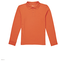 Classroom Uniforms Youth Long Sleeve Pique Polo Orange (CR835Y-ORG)