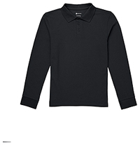 Classroom Uniforms Youth Long Sleeve Pique Polo SS Black (CR835Y-SSBK)