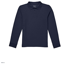 Classroom Uniforms Youth Long Sleeve Pique Polo SS Navy (CR835Y-SSNV)
