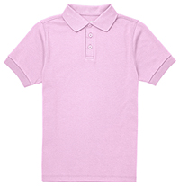 Classroom Uniforms Youth Short Sleeve Interlock Polo Pink (CR891Y-PINK)