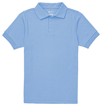 Classroom Uniforms Youth Short Sleeve Interlock Polo SS Light Blue (CR891Y-SSLB)