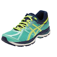 Asics T5D8N-7007 Premium Athletic Footwear Aqua Mint/FlashYellow/Navy (CUMULUS-AFYN)