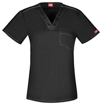 Dickies Unisex V-Neck Top Black (DK801-BLKZ)