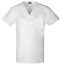 Dickies Unisex V-Neck Top White (DK801-DWHZ)