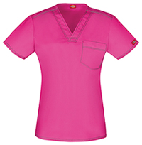 Dickies Unisex V-Neck Top Hot Pink (DK801-HPKZ)