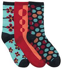 Cherokee Socks and Hoisery DOTMYFLOWER (DOTMYFLOWER-AST) (DOTMYFLOWER-AST)