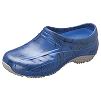 Anywear Slip Resistant Injected Closed Back Clog Navy Swirl (EXACT-NVSW)