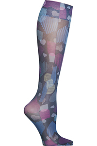 Cherokee Knee Highs 12 mmHg Compression Activate My Heart (FASHIONSUPPORT-ATHT)