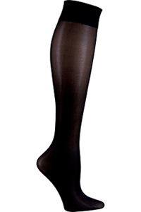 Cherokee Knee Highs 12 mmHg Compression Black (FASHIONSUPPORT-BLK)