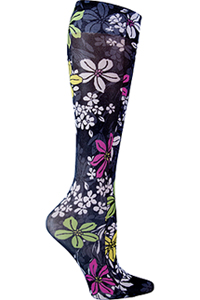 Cherokee Knee Highs 12 mmHg Compression Bouquet Me Not (FASHIONSUPPORT-BOMN)