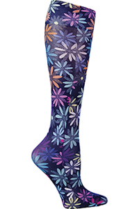 Cherokee Knee Highs 12 mmHg Compression Dot-ful Daisy (FASHIONSUPPORT-DTSD)