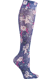 Cherokee Knee Highs 12 mmHg Compression Flight For The Cure (FASHIONSUPPORT-FLTC)