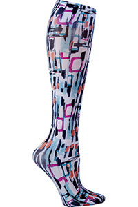 Cherokee Knee Highs 12 mmHg Compression Get Up and Geo (FASHIONSUPPORT-GEGO)
