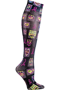 Cherokee Knee Highs 12 mmHg Compression I Give A Hoot (FASHIONSUPPORT-IGVE)