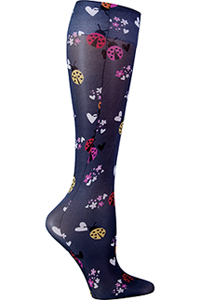 Cherokee Knee Highs 12 mmHg Compression Love and Ladybugs (FASHIONSUPPORT-LOLD)