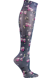 Cherokee Knee Highs 12 mmHg Compression Midnight Owl (FASHIONSUPPORT-MHTO)