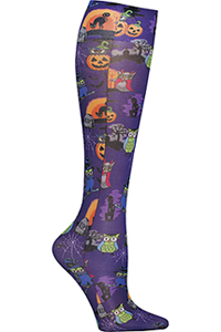 Cherokee Knee Highs 12 mmHg Compression Owl Be Trick Or Treating (FASHIONSUPPORT-OWTT)