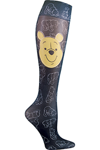Cherokee Knee Highs 12 mmHg Compression Tumble Around Pooh (FASHIONSUPPORT-PHTU)
