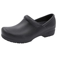 Anywear Footwear SR Antimicrobial Plastic Stepin Black (GUARDIANANGEL-BLK)
