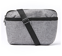 Heartsoul Utility Bag Heather Grey w/ Black Straps (HARPERUTILITY-HTGRY)