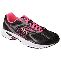 Fila USA Lace Up Athletic Blk/KnockoutPink/SafetyYellow (INSPELL-F044)