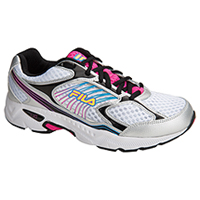 Fila USA Lace Up Athletic White/Black/PinkGlo (INSPELL-F119)