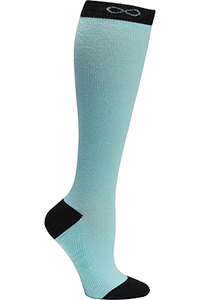 Cherokee 1 Pair Pack 15-20 mmHg Support Socks Aruba Blue/Black (KICKSTART-ARBLU)