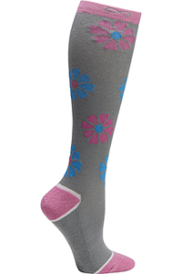 Cherokee 1 Pair Pack 15-20 mmHg Support Socks Flower Petals (KICKSTART-FLPTL)