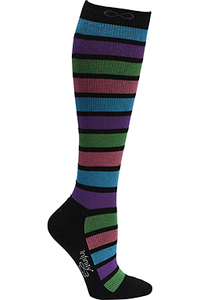 Cherokee 1 Pair Pack 15-20 mmHg Support Socks Neon Stripes (KICKSTART-NEOST)